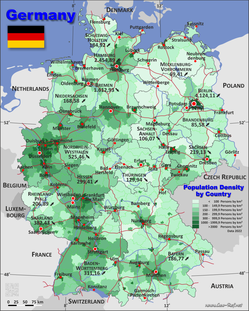 map germany population density