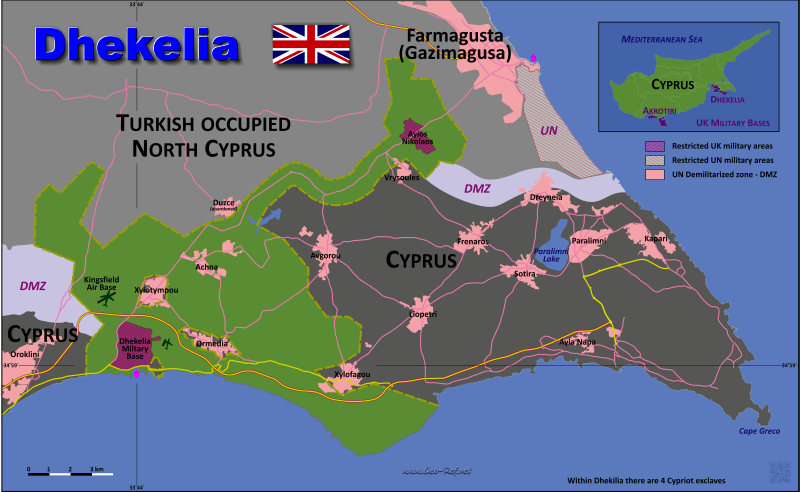 Dhekelia Country data links and maps of the population density by