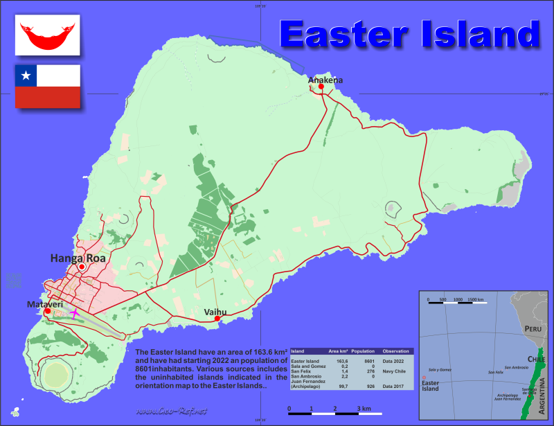 Map Easter Island - Administrative division - Population density 2020