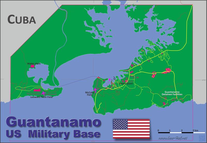 Map Guantanamo - Administrative division - Population density 2017