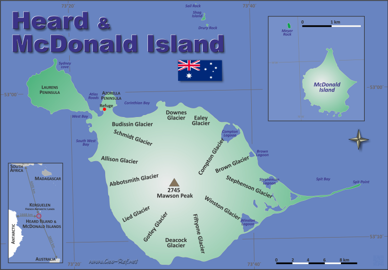 Map Heard Island & McDonalds - Administrative division - Population density 2018