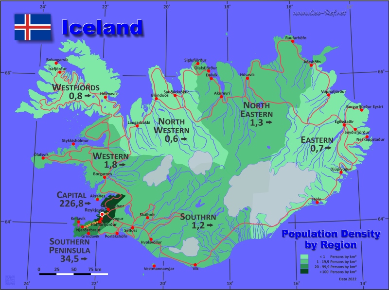 picture about Printable Map of Iceland identify Iceland State info, back links and map through administrative design and style