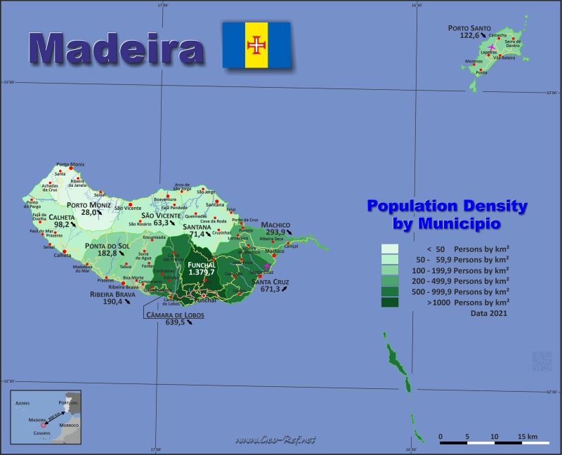 Madeira Country data, links and map by administrative structure on bermuda map, jamaica map, lisbon map, casiquiare canal map, mauritius map, vila franca do campo map, australia map, mayotte map, uzbekistan map, bussaco map, broadview heights map, taiwan map, portugal map, rheinhessen map, algarve region map, mt lookout map, lake titicaca map, west indies map, slovenia map, canary islands map,