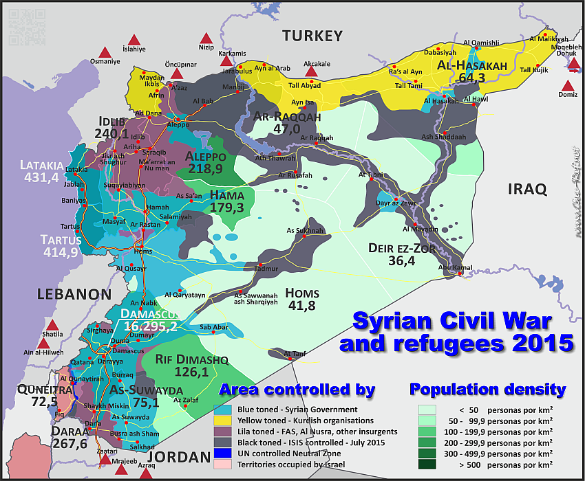Situation Syrienkrieg 2015