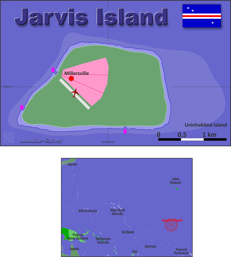 Map Jarvis Island - Population density